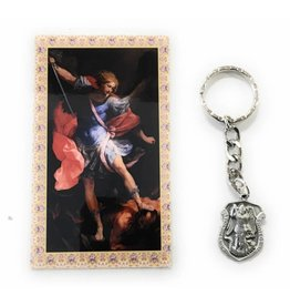 McVan St. Michael Police Badge Key Ring with Prayer Card