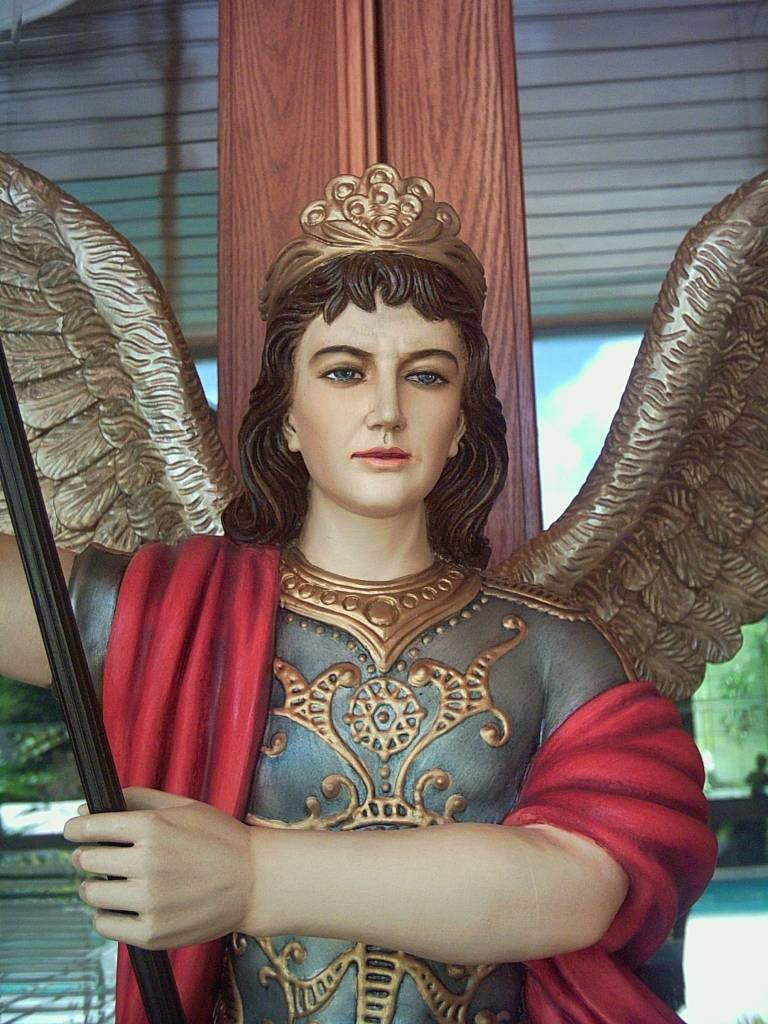 """Fiat Imports 48"""" St. Michael Statue with 54"""" wing span"""