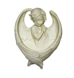 "Goldscheider of Vienna 6.5"" Resin Praying Angel Holy Water Font (White)"