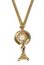 HMH Religious Gold Over Sterling Silver Monstrance Pendant