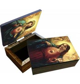 Nelson Fine Art Sacred and Immaculate Hearts Keepsake Box
