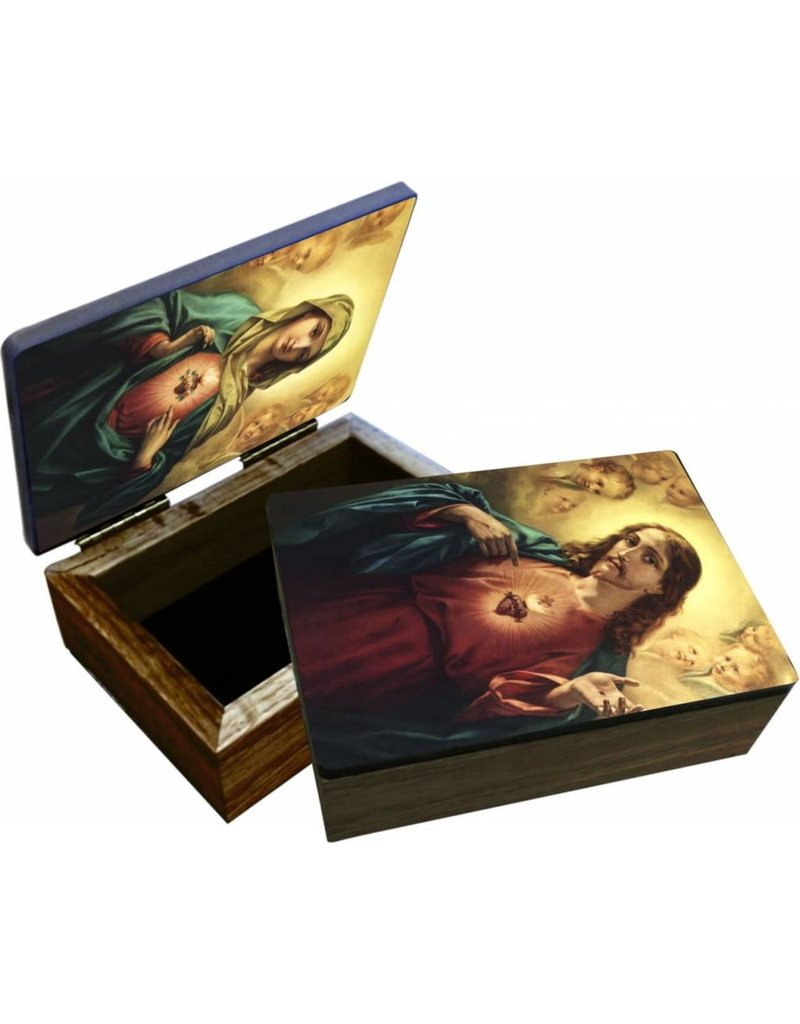 Nelson Fine Art Sacred or Immaculate Heart Keepsake Box