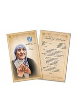 Nelson Fine Art St. Teresa of Calcutta (Mother Teresa) Commemorative Prayer Card