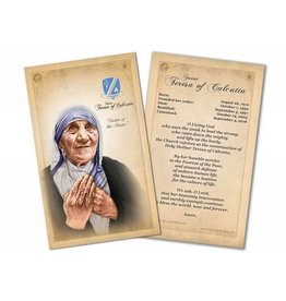 Nelson Fine Art St. Teresa of Calcutta (Mother Teresa) Commemorative Prayer Card