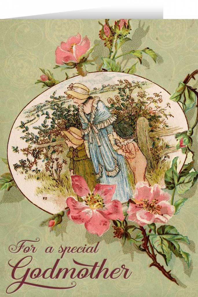 Nelson Fine Art Special Godmother Greeting Card
