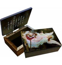 Nelsons Fine Art and Gifts Guardian Angel on the Perilous Bridge Keepsake Box