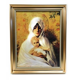 "WJ Hirten 11"" x 14"" Our Lady of the Palm in Golden Frame"