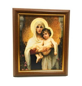 """WJ Hirten 8"""" x 10"""" Madonna of the Roses with Walnut Frame"""
