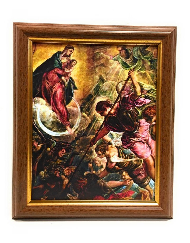 "WJ Hirten 8"" x 10"" Battle of St. Michael with Walnut Frame"