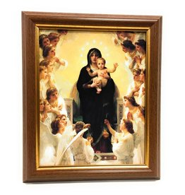 "WJ Hirten 8"" x 10"" Queen of the Angels with Walnut Frame"