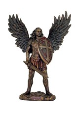 """Goldscheider of Vienna 13.5"""" St. Michael without the Devil in Cold Cast Bronze, Lightly Painted"""