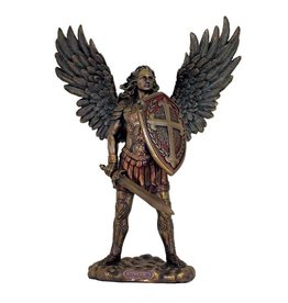 "Goldscheider of Vienna 13.5"" St. Michael without the Devil in Cold Cast Bronze, Lightly Painted"
