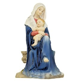 "Goldscheider of Vienna 6"" Hand Painted Madonna and Child Statue"