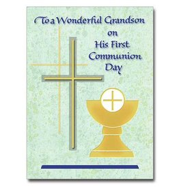 The Printery House To A Wonderful Grandson First Communion Card