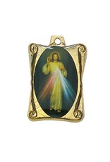 "McVan 1"" Divine Mercy Medal on 30"" Gold Plated Chain"
