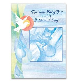 The Printery House For Your Baby Boy On His Baptismal Day Greeting Card