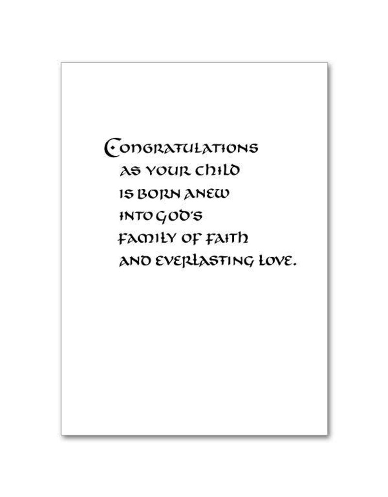 The Printery House Made New in God's Love Baptism Greeting Card