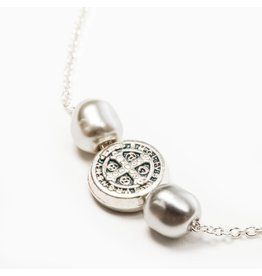 My Saint My Hero Joy Necklace - Silver