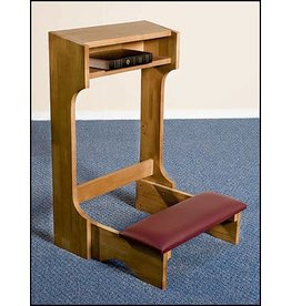 Robert Smith Padded Kneeler - Oak Stained