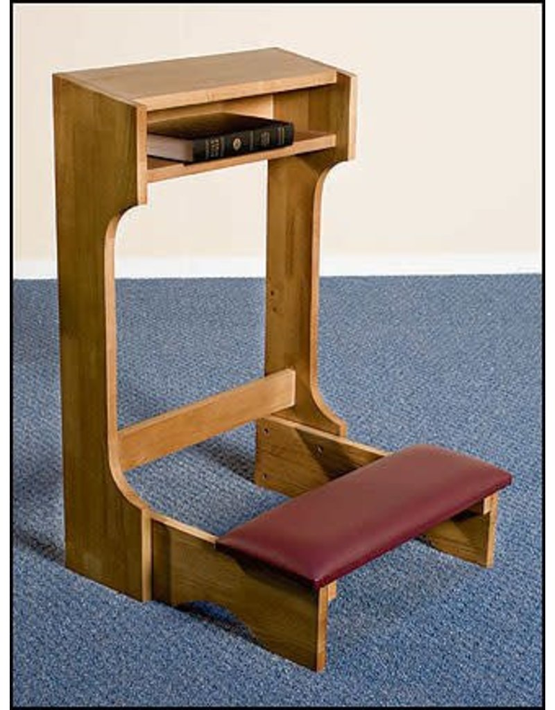 Robert Smith Padded Kneeler - Oak Stained