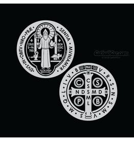 CatholiCar St. Benedict Medal Front and Back Decals