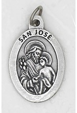 Lumen Mundi San Jose Oxidized Medal