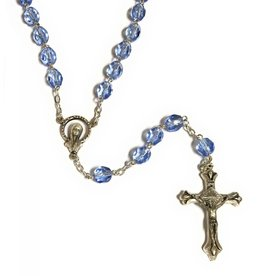 Elite Fashion Accessories Corp 7mm Glass Birthstone Rosary (December)