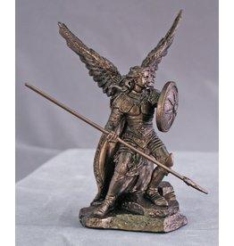 """Goldscheider of Vienna 4"""" Bronzed St. Raphael Statue"""