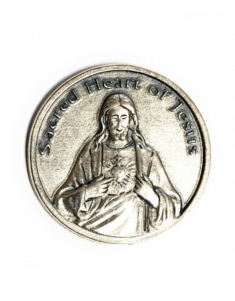Lumen Mundi Sacred Heart Pocket Token