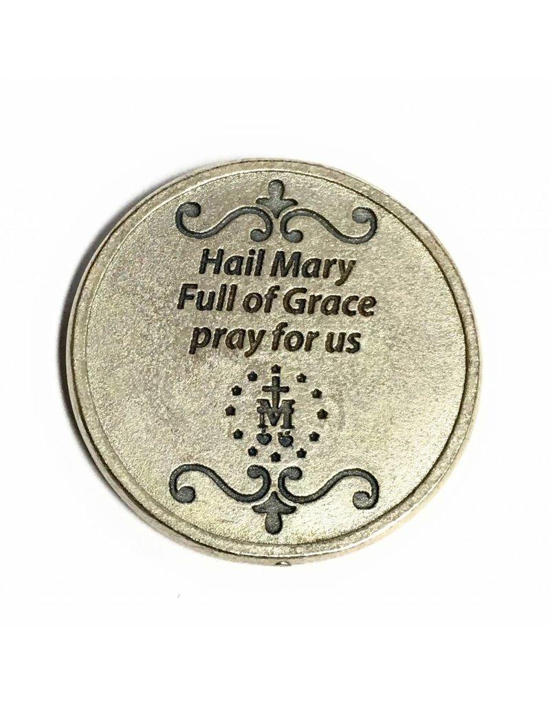 Lumen Mundi Miraculous Medal Hail Mary Pocket Token