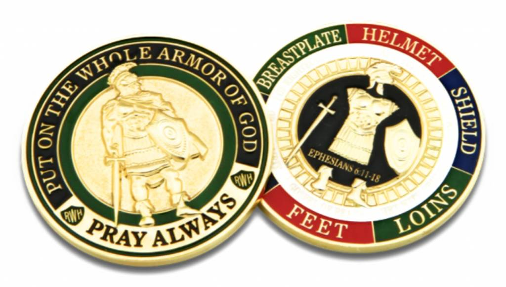 Armor of God Challenge Coin Token