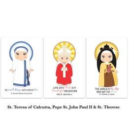 "Meyer Market Designs Set of 20 Assorted Saint Stickers 2 x 1.5"""