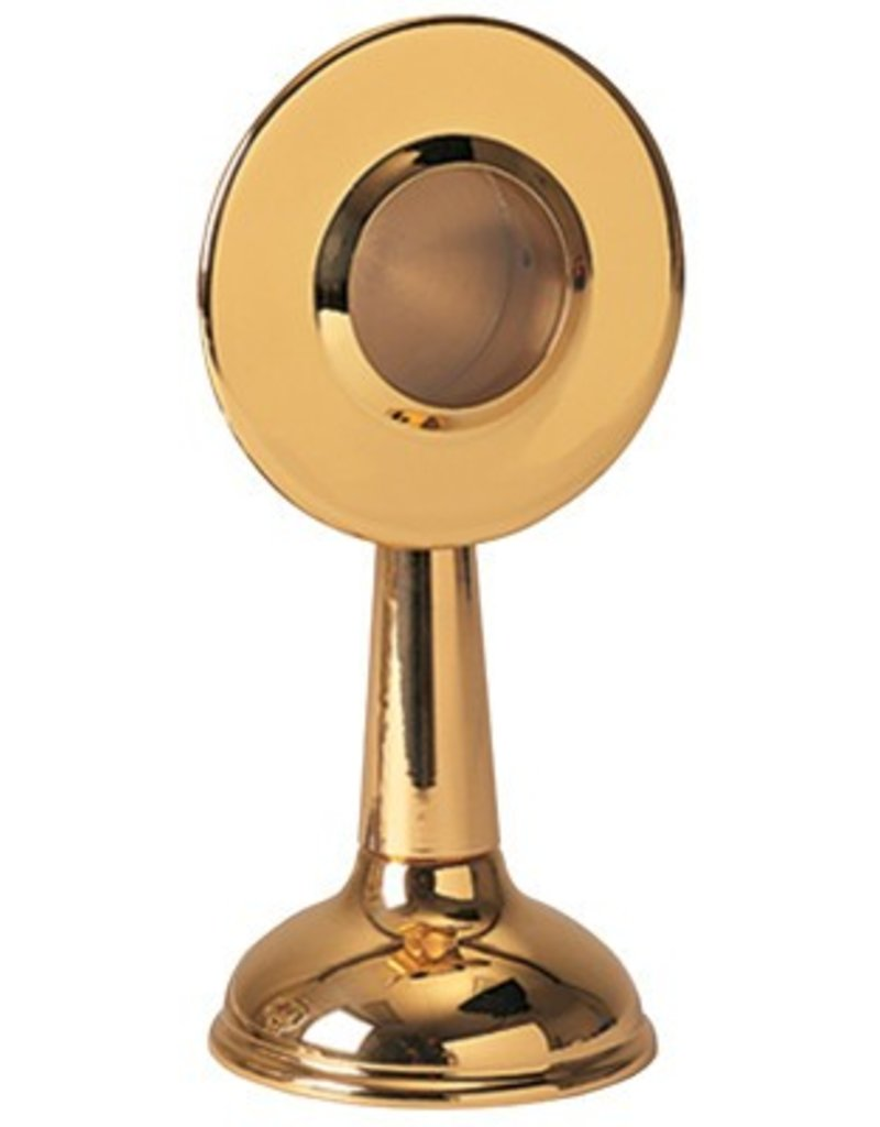 "Koleys Inc. 6"", 1-3/4"" Gold Plated Disc Reliquary"