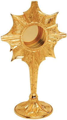 "Koleys Inc. 11.5"", 2.75"" Starburst Gold Plated Reliquary"