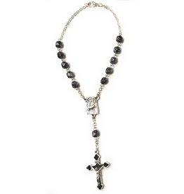 McVan Black Marble Pattern Ecco Homo Auto Rosary