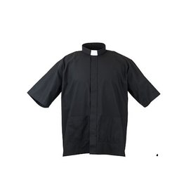 MDS Panama Black Cottonrich Short Sleeve Tab Clergy Shirt