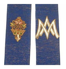 MDS Blessed Mother Blue Lucerne Hand Embroidered Stole