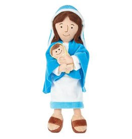 "Hallmark 12.75"" Mother Mary Holding Baby Jesus Plush Doll"