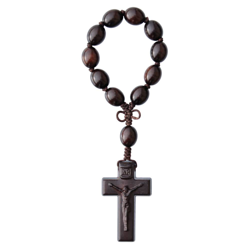 Sine Cera One Decade Rosary Jujube Wood Oval 12mm
