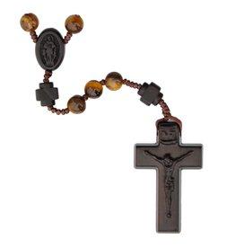 Sine Cera Rosary Five Decade Tiger Eye/Jujube Wood 6mm