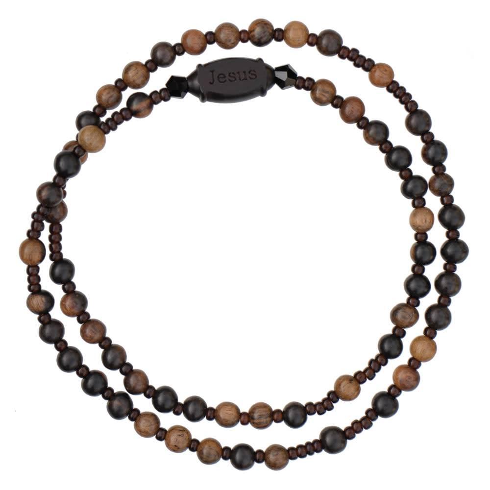 Sine Cera Rosary Bracelet Jujube Wood Twist 4mm