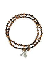Sine Cera Rosary Bracelet Tiger Eye Twist 4mm
