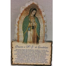 Moshy Brothers, Inc Placa de oración a la Virgen de Guadalupe