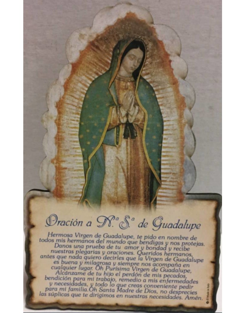 """Moshy Brothers, Inc Plaque Guadalupe in Spanish 6.34"""""""