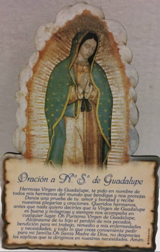 Moshy Brothers, Inc Plaque Guadalupe in Spanish 6.34""
