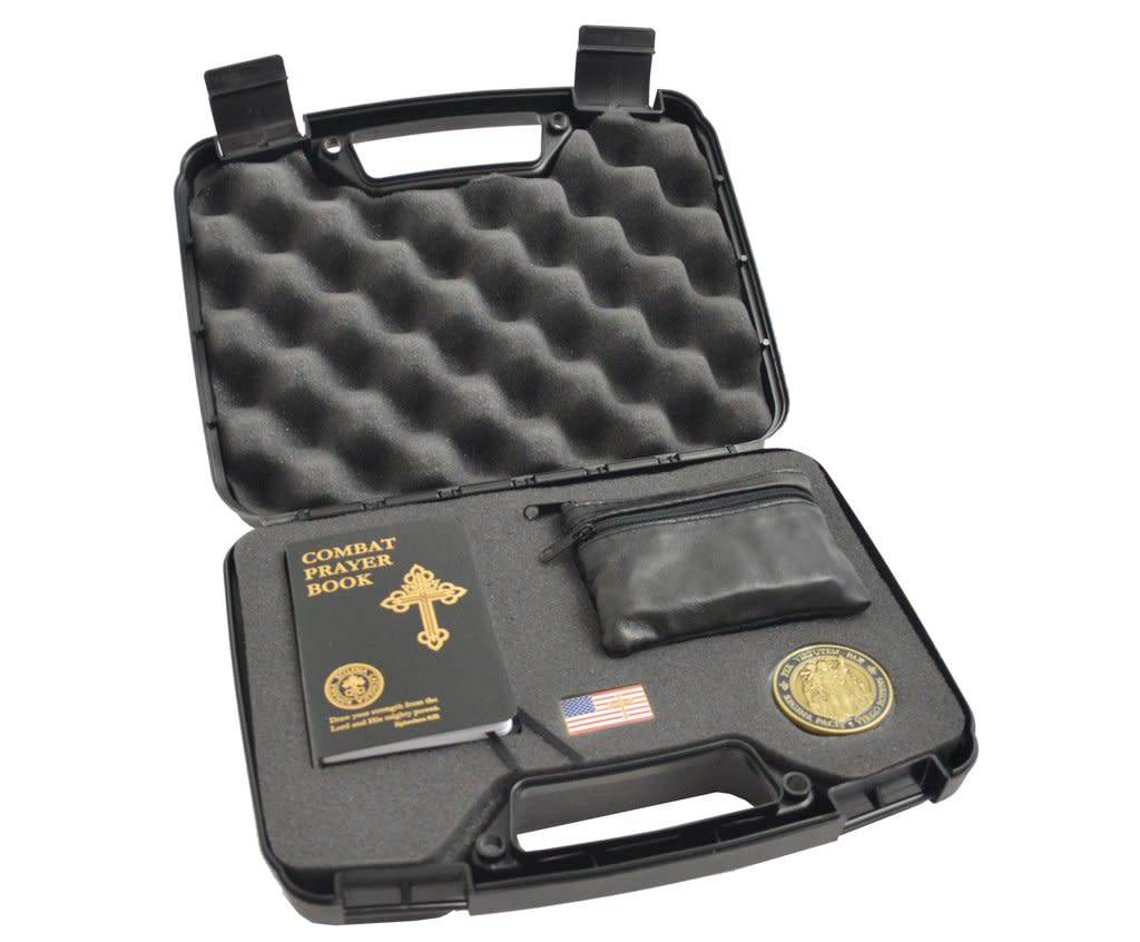 Roman Catholic Gear Peace Through Strength Case