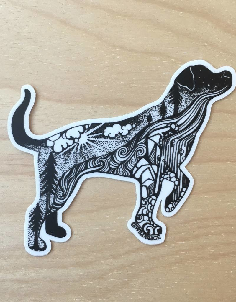 Wild Slice Sticker- Hiking Dog 3""