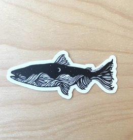 Wild Slice Sticker- Salmon 3""