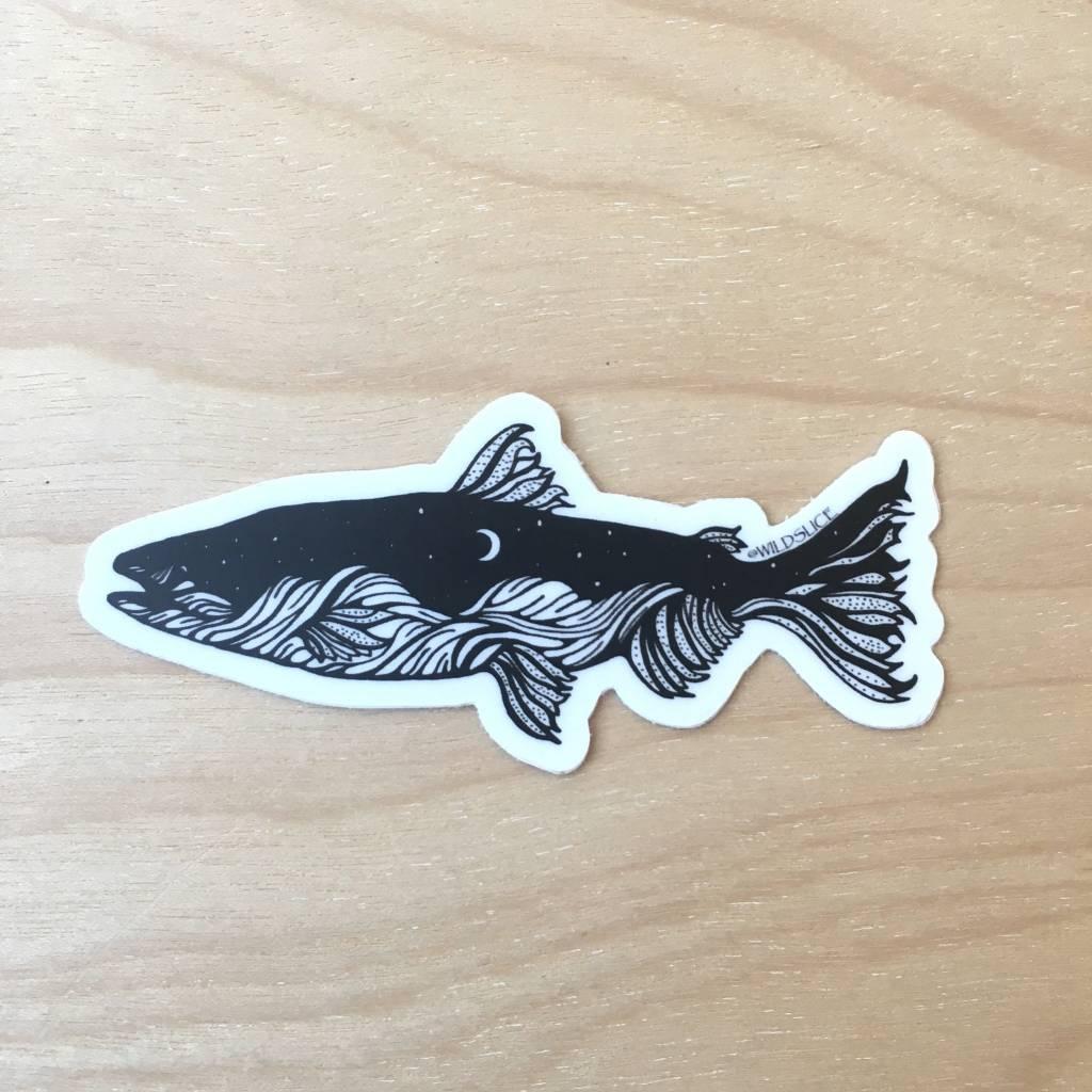 """Wild Slice Sticker- Salmon 3"""""""