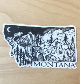 Wild Slice Sticker- Montana 4""